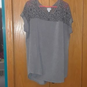 Mesh short sleeve top